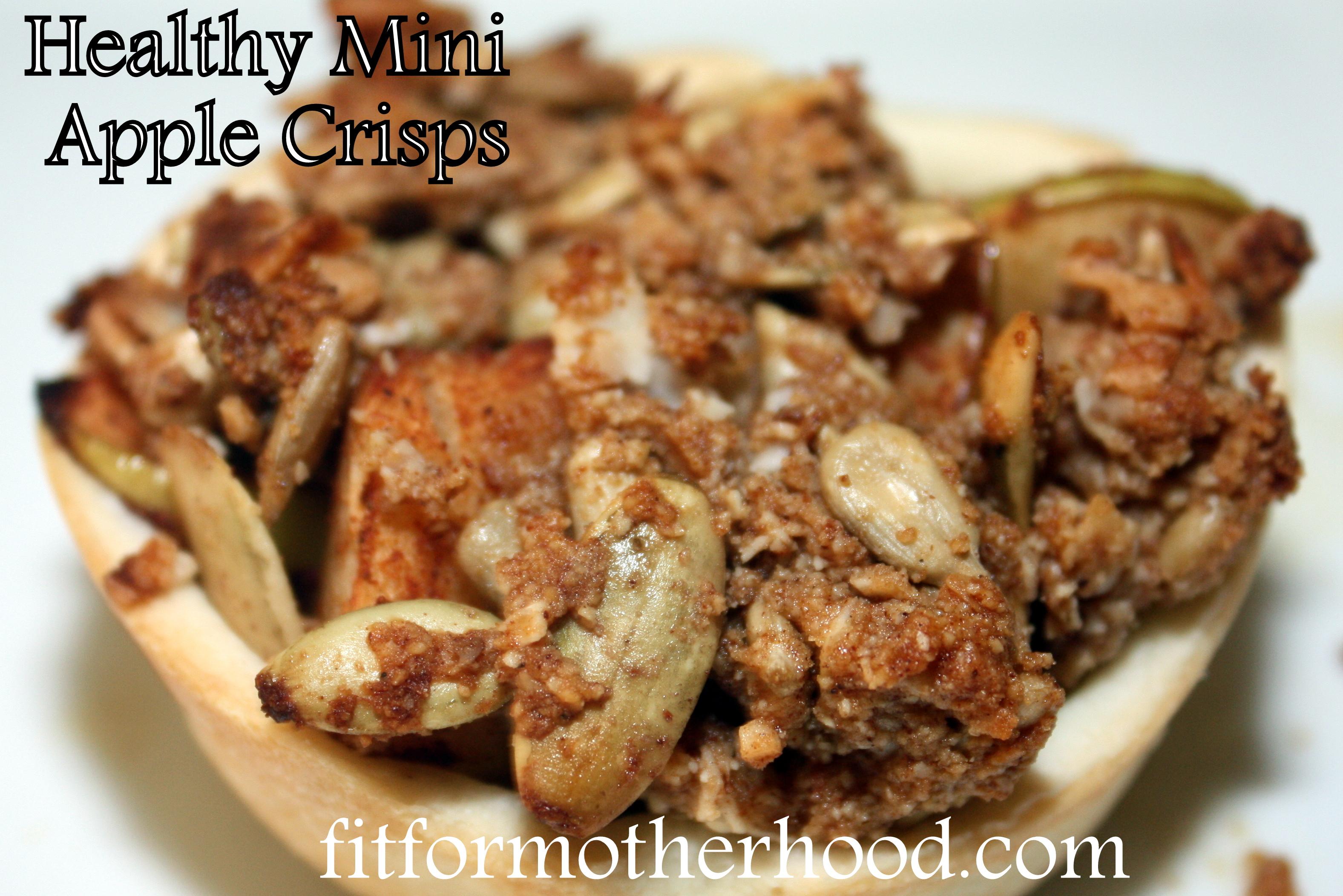 Easy Healthy Mini Apple Crisps