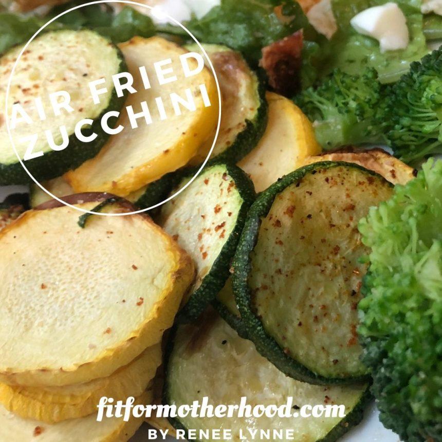 Air Fried Sliced Zucchini